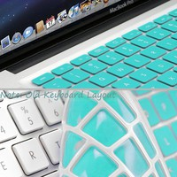 GMYLE® Turquoise Robin Egg Blue Keyboard Cover for Macbook Air Pro 13 15 15 Pro Retina 17 US model O