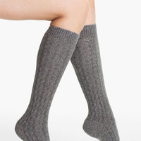 Ralph Lauren Metallic Cable Knee Socks | Nordstrom