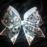 Cheetah Cheer Bows