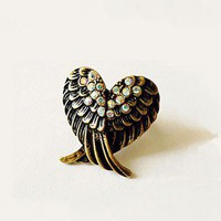 Vintage Adjustable Multicolor Wings Ring at Vintage Costume Jewelry Online Store Gofavor