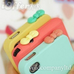 bow earphone anti-dust cover for iPhone 4G for sale