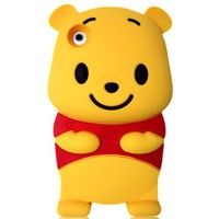 Winnie the Pooh 3D Cartoon Soft Shell Case for iPhone 3G/3GS