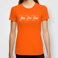 Breaking Bazinga T-shirt by Dutyfreak | Society6