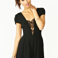 Don't Hold Back Romper - Black