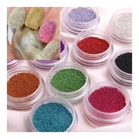 SODIAL- Fashion Caviar Nails Art New 12 Colors plastic Beads Manicures or Pedicures Nail Art Hot Sal