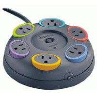 Amazon.com: Kensington 62634 SmartSockets 6-Outlet 16 feet Cord Table Top Circular Color Coded Power Strip and Surge Protector: Computers & Accessories
