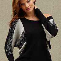 Intarsia Dolman Pullover