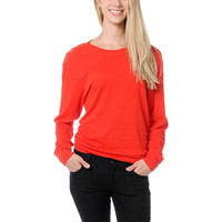 Empyre Girl Amelia Fiery Red Lace Top