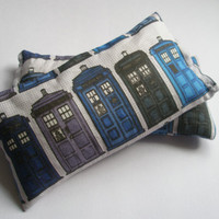 TARDIS Doctor Who Hand Warmers / Heat Bags - Made to Order - Rice filled for Winter Warmth Heat Pack / Pad / Cold Pack - Microwavable