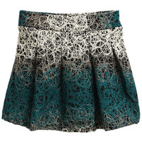 ROMWE | Abstract Cross Lines Green Skirt, The Latest Street Fashion