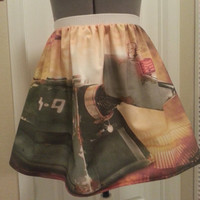 Doctor Who K-9 inspired skirt - Made to order