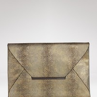BCBGMAXAZRIA Clutch - Exotic Lizard Envelope | Bloomingdale's