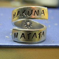 The original Hakuna Matata twist aluminum ring Version II