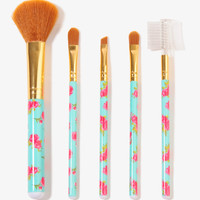 Floral Pattern Cosmetic Brushes