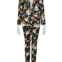 Painted Flower Blazer and Matching Skinny Trousers - Suits and Co-ords  - Clothing  - Topshop USA