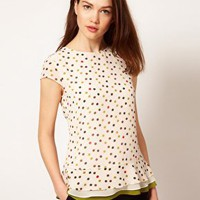 Ted Baker Spot Print Top at asos.com