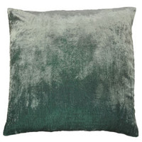 ombre velvet pillow - grey/blue - ABC Carpet & Home