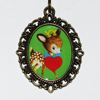 Valentine's Day Necklace - Deer Heart