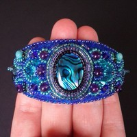 Salome's Cuff Bead Embroidered BraceletLuxury Bead by CircesHouse