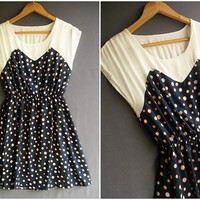 Dotted  Dress  Spring Summer by Thaiclothes on Etsy