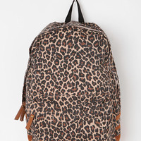 Carrot Leopard Print Backpack