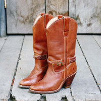 Vintage Braided Cowboy Boots, Sweet Country Inspired Vintage Clothing