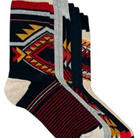 River Island 5 Pack Tribal Socks at asos.com
