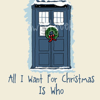 Doctor Who Tardis Christmas Card