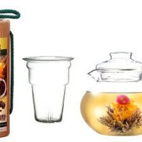 Primula Flowering Tea Set with 40-Ounce Pot, Clear: Amazon.com: Kitchen & Dining