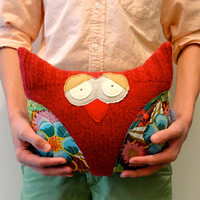 owl softie repurposed wool sweater with tons of by looploft