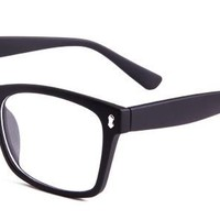 Angel Eyeglasses with Black Plastic Aviator Full Frame/Rim Frame