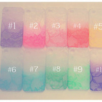 Custom Ombre iPhone Lace case for iPhone 3