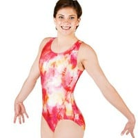 Adult Gymnastic Two-Tone Leotard,G530PURM,2-Tone Purple,Medium