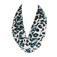 CTM Bright Animal Print Loop Scarf
