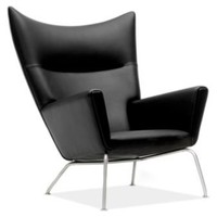 Wegner Leather Wing Chair - Accent Chairs - Bedroom - Room  Board