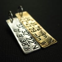 Latitude and Longitude Tag Pendant | Spiffing Jewelry