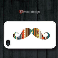 mustache case iphone case iphone 4 case iphone 4s case iphone 4 cover mustache graphic atwoodting design