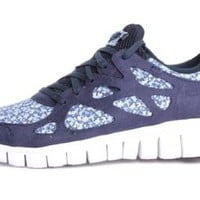 Nike Womens Free Run+2 Liberty Ext Obsidian 540848-400