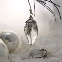 Holiday Earrings Icicle Earrings Wintertime Earrings by debradane