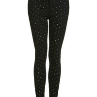 Black Gold Studded Ultra Soft Jeans