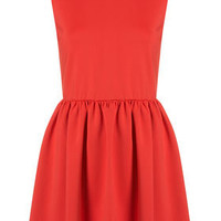 Scuba High Neck Skater Dress - Dresses  - Clothing