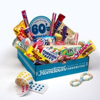 Hometown Favorites 1960's Nostalgic Candy Gift Box, Retro 60's Candy.: Amazon.com: Grocery & Gourmet Food
