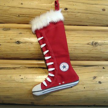 $23.00 Converse Stocking Red by creationzbycatherine on Etsy
