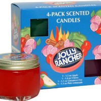 Amazon.com: Jolly Rancher by Hanna&#x27;s Candle 4-Pack Jolly Rancher Sampler Candle: Home &amp; Kitchen