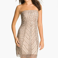 Adrianna Papell Strapless Embellished Mesh Dress | Nordstrom