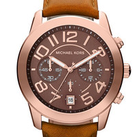 Michael Kors &#x27;Mercer&#x27; Chronograph Leather Strap Watch | Nordstrom