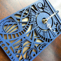 Doctor Who Timey Wimey Tardis Wall Clock