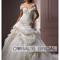 WD12089 off shoulder princess wedding dress Decadence coralsbridal