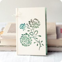 Roses  papercut greeting card   4x6 inches by MimimiCards on Etsy