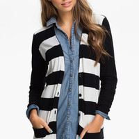 BP. Rugby Stripe Cardigan (Juniors) | Nordstrom